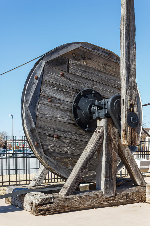 Antique Photograph - Wooden Pully by Doug Long