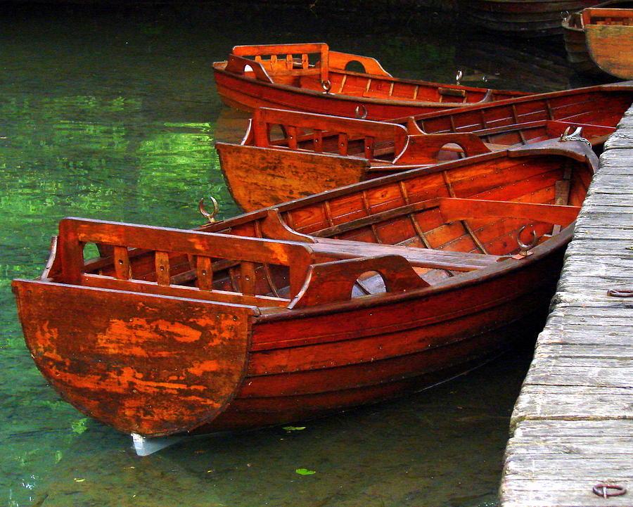 Wooden Rowboats Photograph by Ramona Johnston