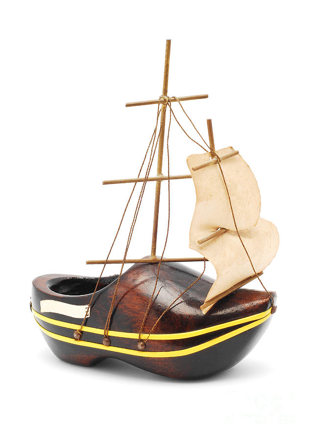 Wooden Shoe Boat Photograph
