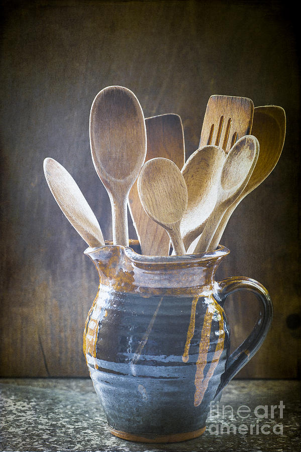 Wood Photograph - Wooden Spoons by Jan Bickerton