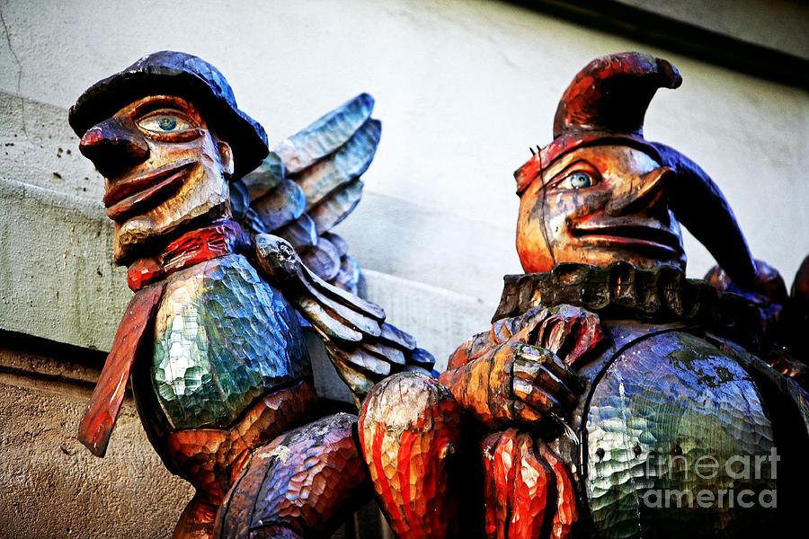 Prague Photograph - Wooden Statues by John Rizzuto