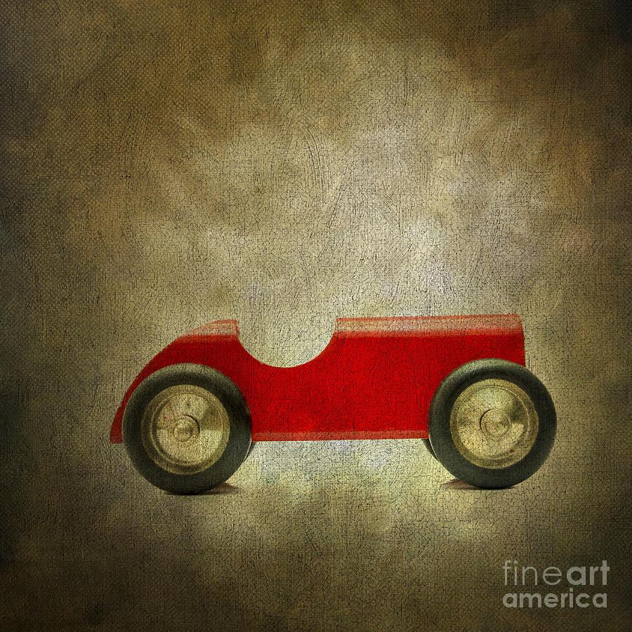 Miniature Photograph - Wooden Toy Car by Bernard Jaubert