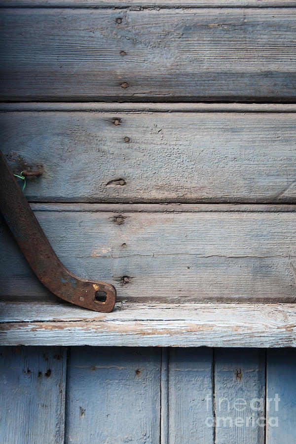 Blue Gray Photograph - Wooden Wall In Blue by Agnieszka Kubica