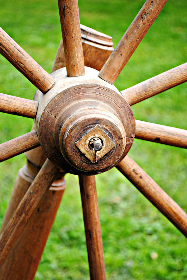 Wooden Spoke Photograph - Woodenspoke by Stephanie Grooms