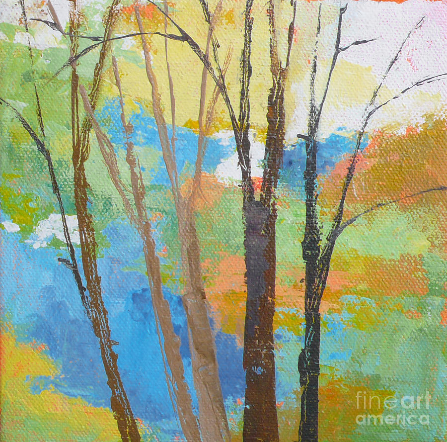 Trees Painting - Woodland #1 by Melody Cleary