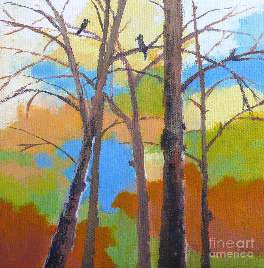 Birds Painting - Woodland #5 by Melody Cleary