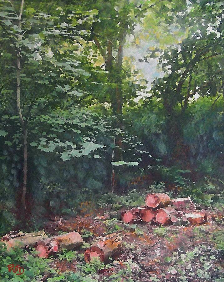Woodland Glade In Peebles Painting