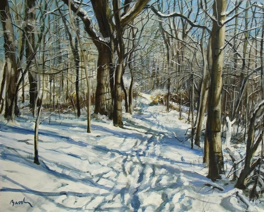 Winter Painting - Woodland Journey by William Brody