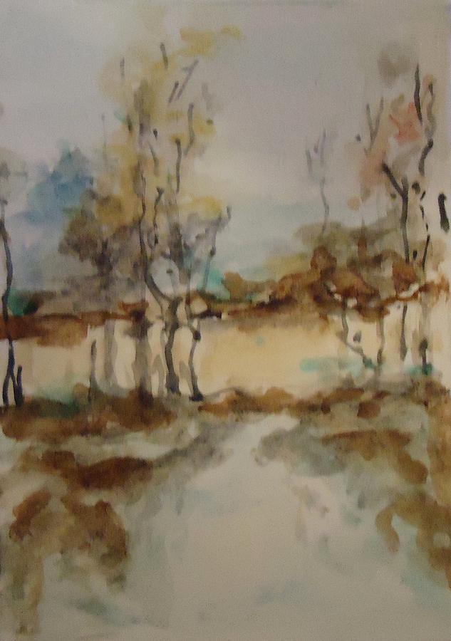 Landscape Painting - Woodland Landscape by Katie Spicuzza