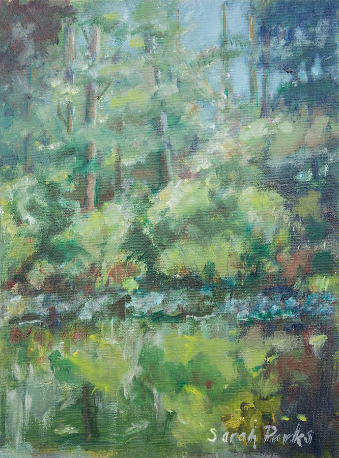 Woods Painting - Woodland Pond by Sarah Parks