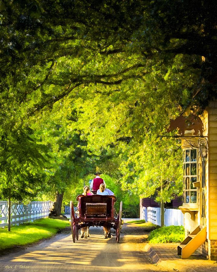 Williamsburg Photograph - Woodland Ride - Colonial Williamsburg by Mark E Tisdale