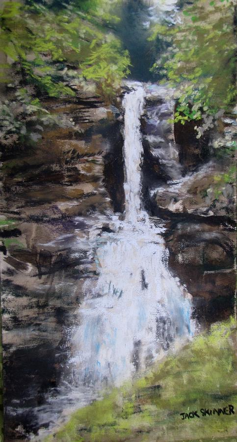 Waterfall Painting - Woodland Waterfall by Jack Skinner