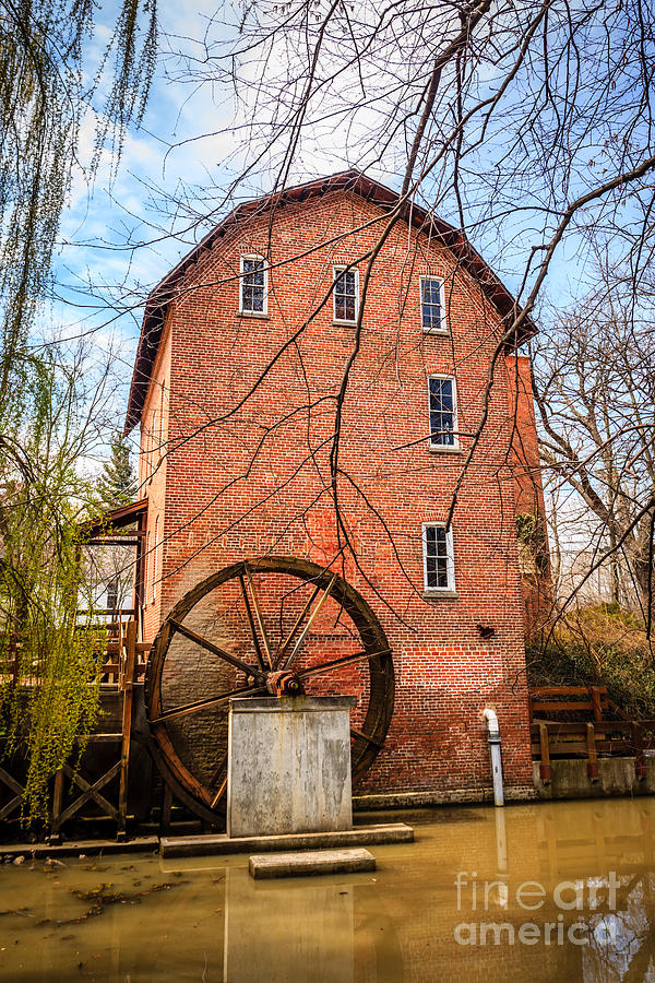 1800's Photograph - Woods Grist Mill In Northwest Indiana by Paul Velgos