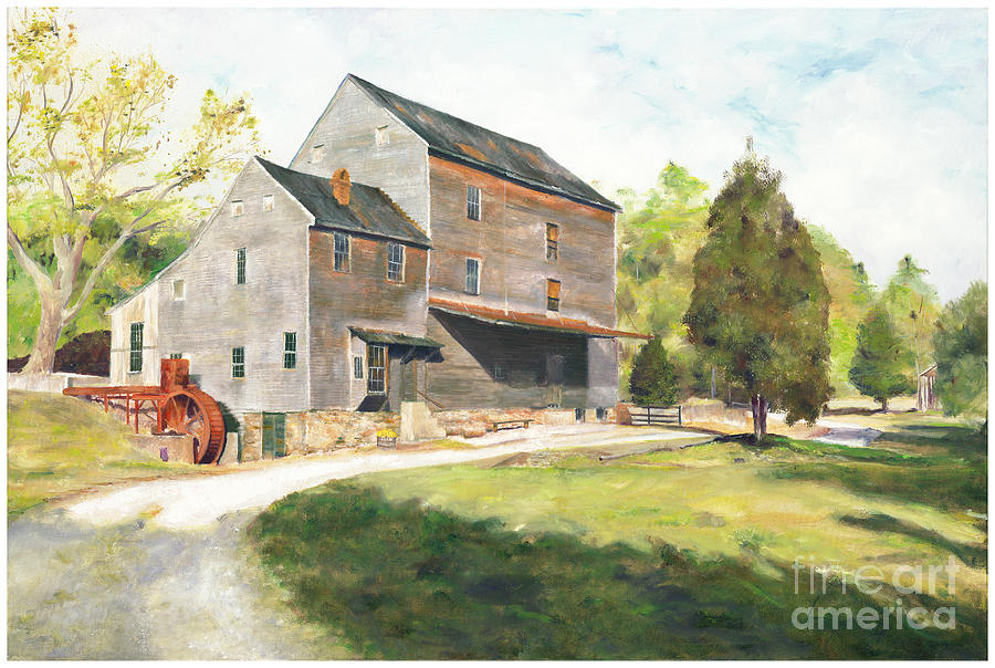 Grist Mill Painting - Woodsons Mill by J Luis Lozano