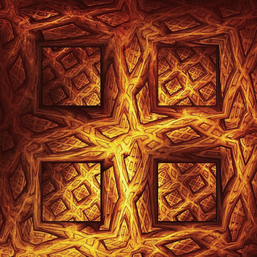 Malakhova Digital Art - Woodwork by Anastasiya Malakhova