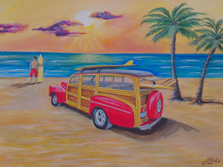 Seascape Painting - Woody on the beach by Jim  Reale