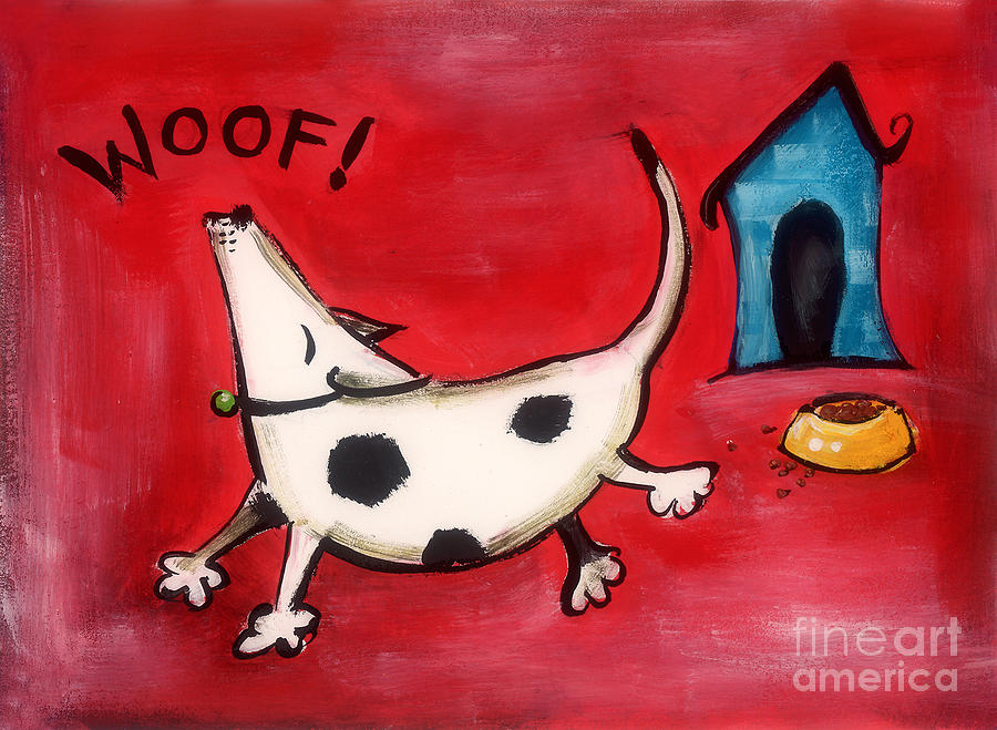 Dog Painting - Woof by Diane Smith