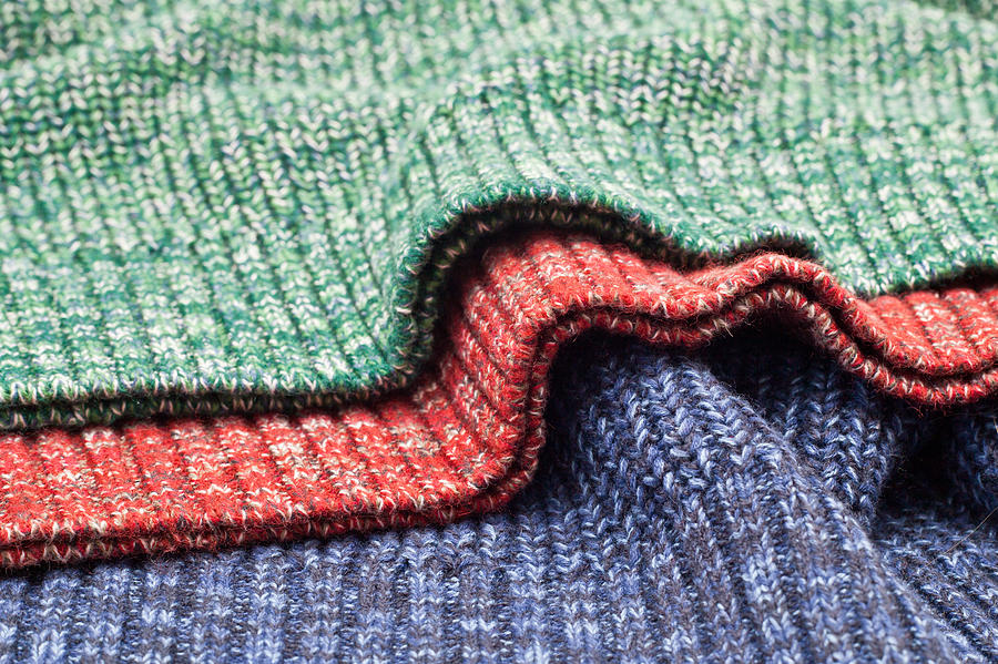 Background Photograph - Wool Colors by Tom Gowanlock