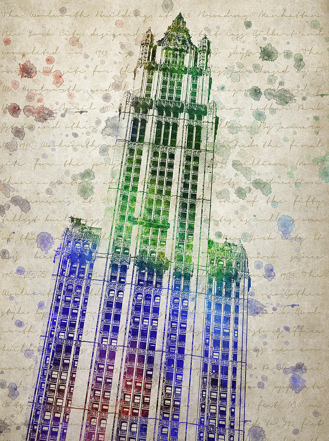Woolworth Building Drawing