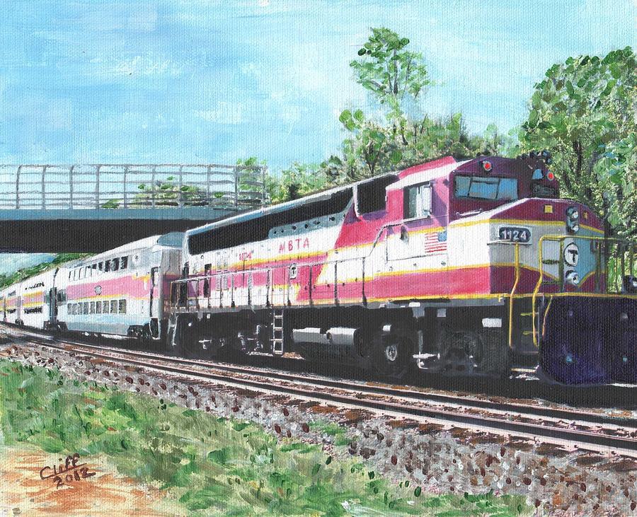 Mbta Painting - Worcester Bound T Train by Cliff Wilson