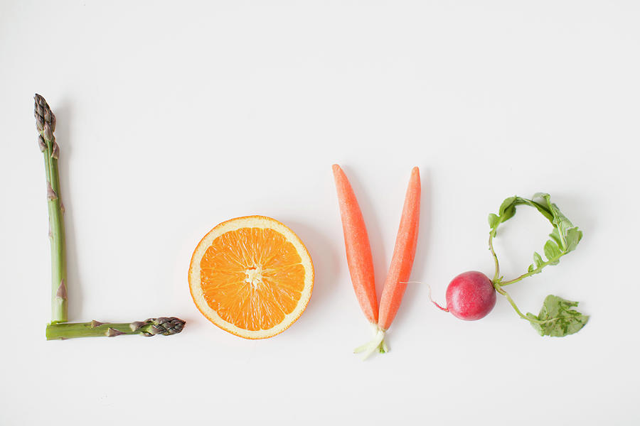 Word Love Made Out Of Fruits And Photograph by Jessica Peterson