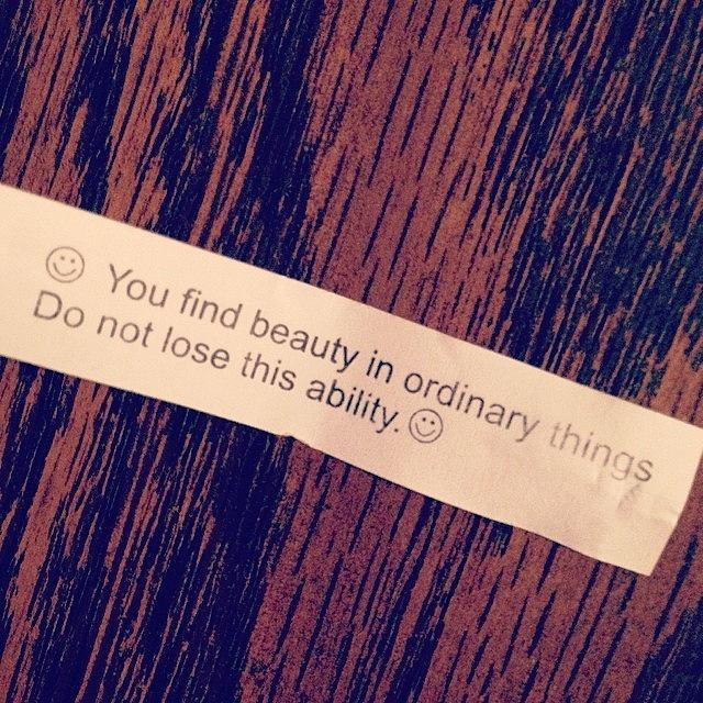 Words Photograph - #words #fortunecookie #instaday #beauty by Marianna Mills