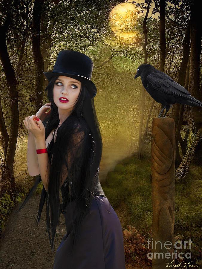 Magic Digital Art - Words Of The Crow by Linda Lees