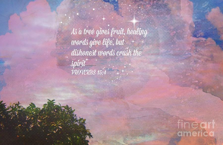 Spiritual Painting - Words Of Wisdom by Sherris Of Palm Springs