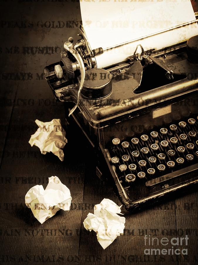 Vintage Photograph - Words Punched On To Paper by Edward Fielding