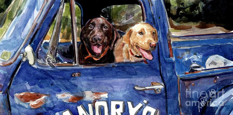 Labrador Retrievers Painting - Work And Play by Molly Poole