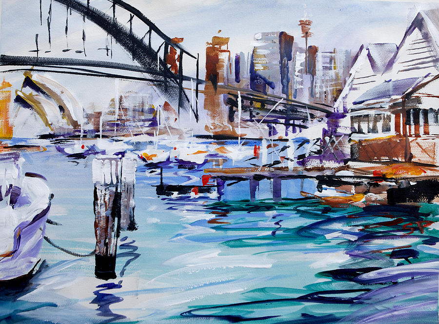 Sydney Painting - Work And Play by Shirley  Peters