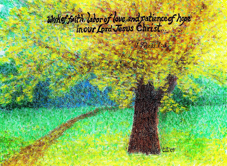 Uplifting Painting - Work Of Faith by Catherine Saldana
