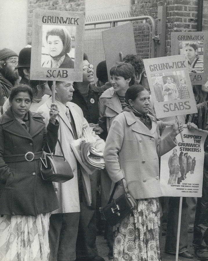 Retro Photograph - Workers At The Grunwick Laboratories Offered Council Houses by Retro Images Archive