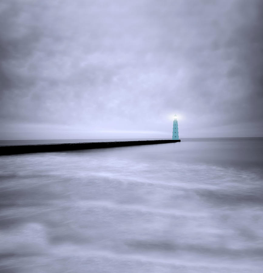 Working Lighthouse On The Pier Photograph by Dtokar