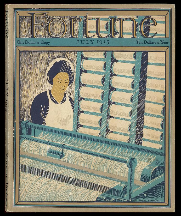 Cotton Drawing - Working On A Cotton Loom          Date by Mary Evans Picture Library