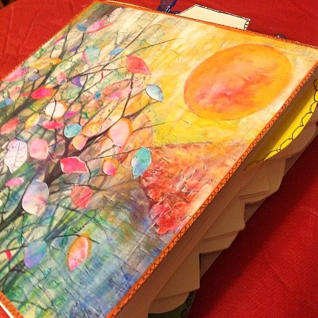 Watercolor Photograph - Working On Some #handmade #artjournals by Robin Mead