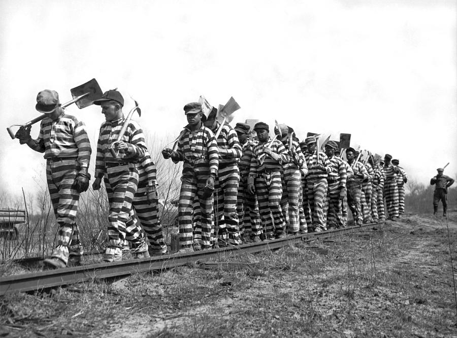 working on the chain gang photograph by underwood archives