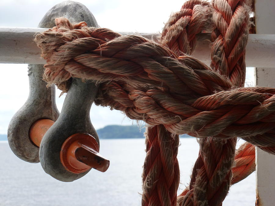 Rope Photograph - Working Rope by Christine Burdine