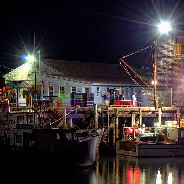 Town Photograph - Working The Docks Late Sunday Night In by Joann Vitali