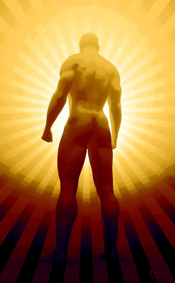 Man Digital Art - World Champion by Matt Lindley