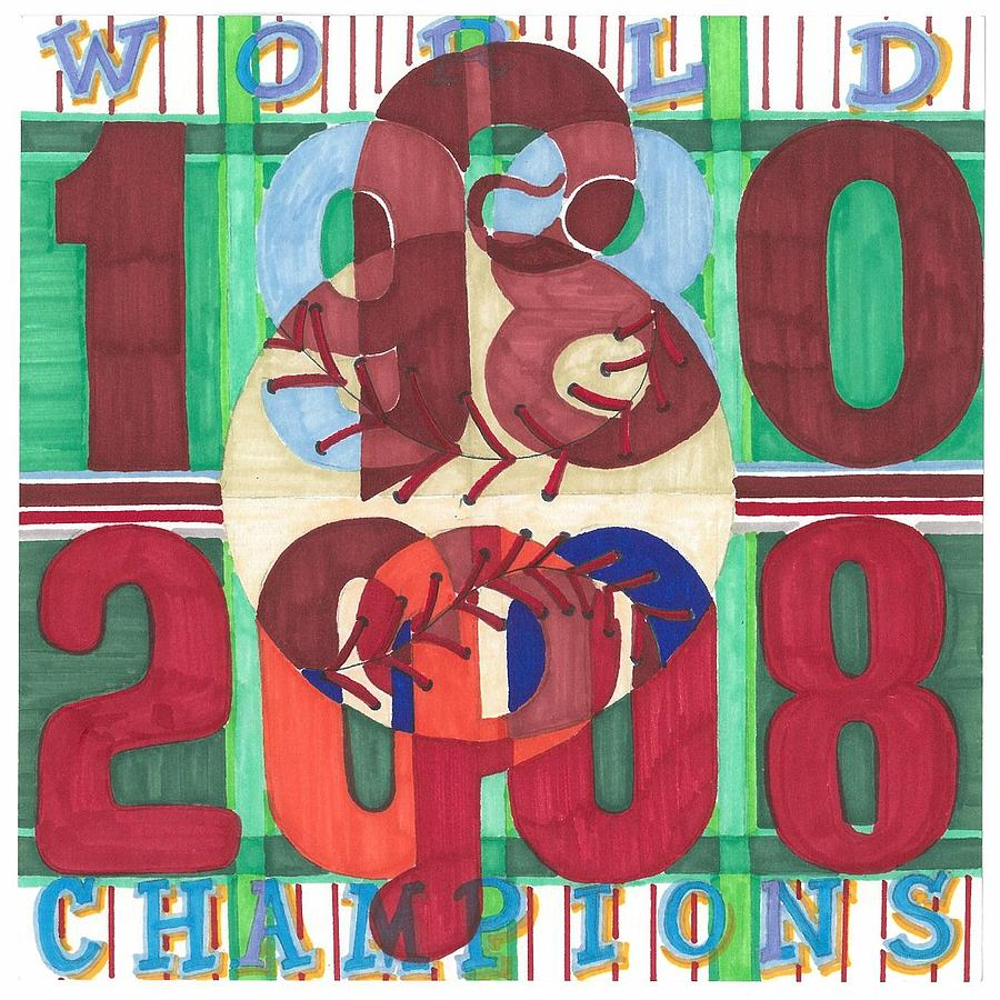 Phillies Painting - world champion Phils by Jeremiah Iannacci