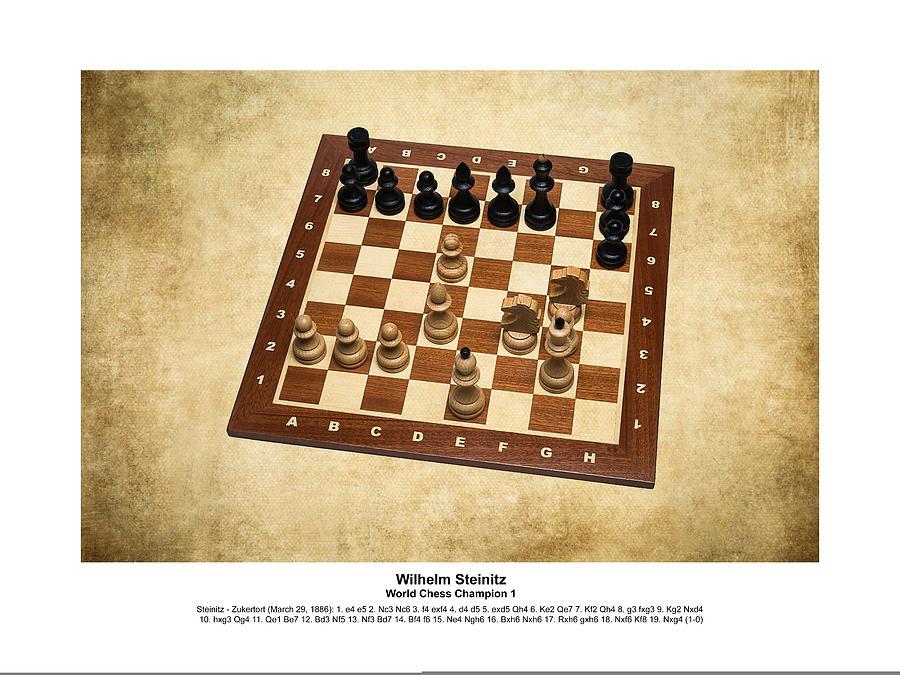 Chess Photograph - World Chess Champions - Wilhelm Steinitz - 1 by Alexander Senin