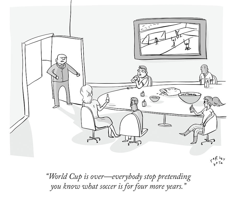 World Cup Drawing by Farley Katz