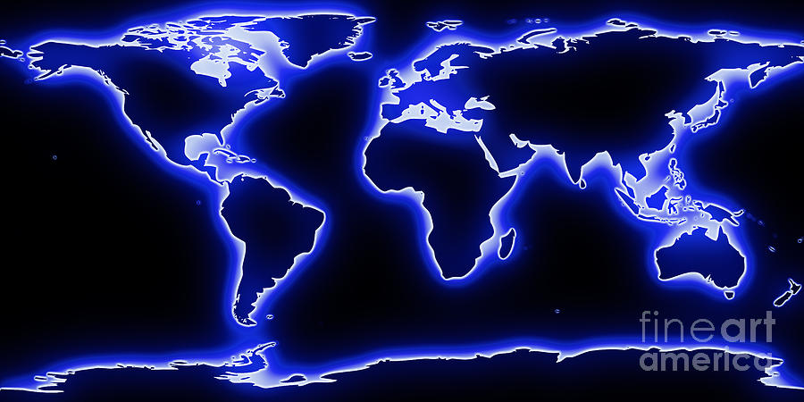 Blue neon world map wallpaper 28 images pin glowing world map blue neon world map wallpaper by world map blue glow painting by pixel chimp gumiabroncs Image collections