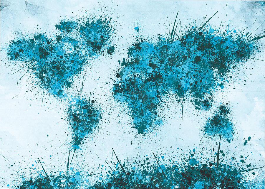 World Map Paint Splatter 2
