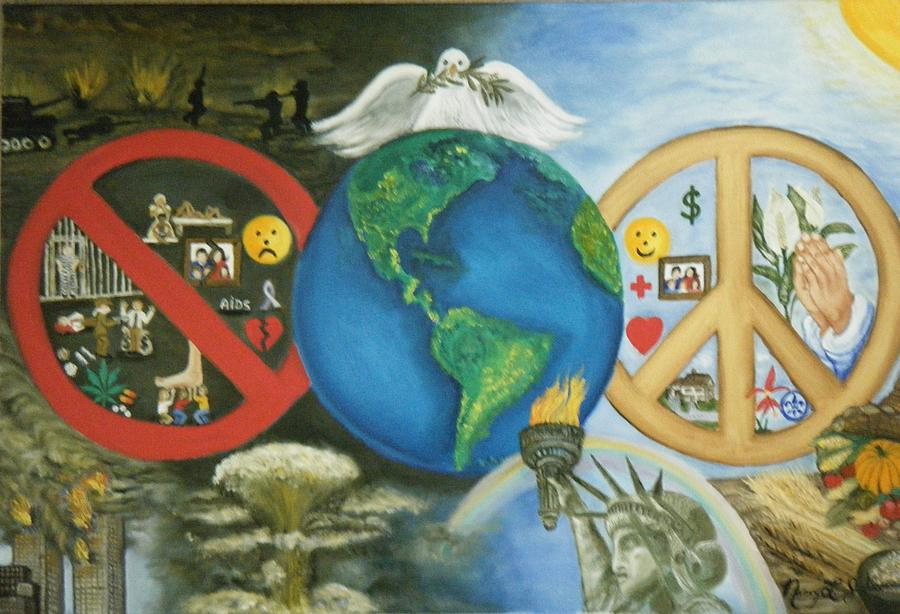 world peace painting by nancy l jolicoeur