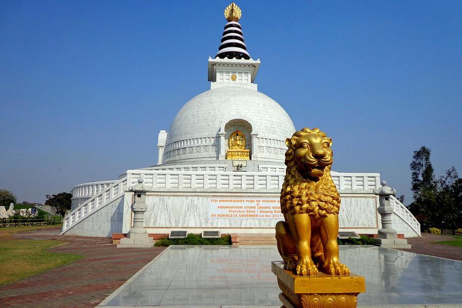 World Peace Pagoda, Delhi Photograph by Smit Sandhir