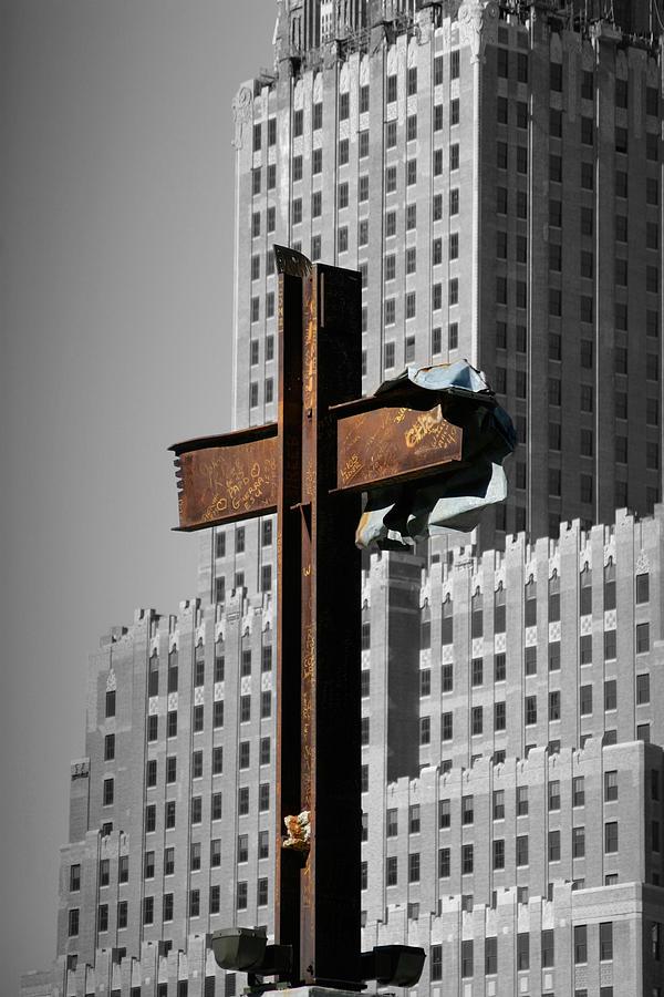 World Photograph - World Trade Center Cross New York by Mathew Lodge