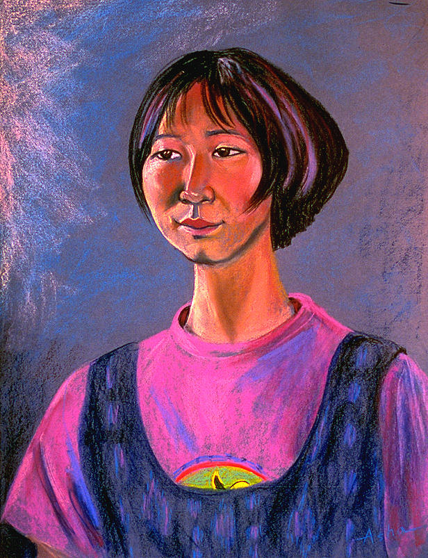 Pastel Portrait Painting Painting - World Traveler For Peace by Asha Carolyn Young
