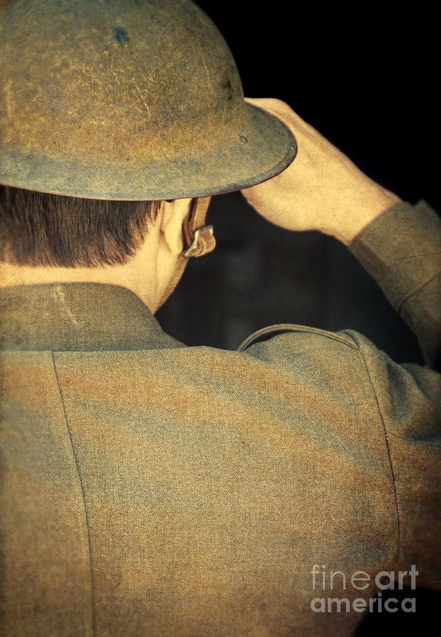 Ww1 Photograph - World War 1 Soldier by Jill Battaglia